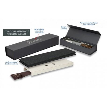 Caja negra imantada (interior: 30x9x7cm)